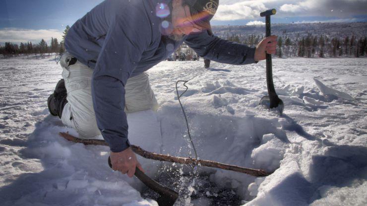 Stunning white world of Swedish Lapland