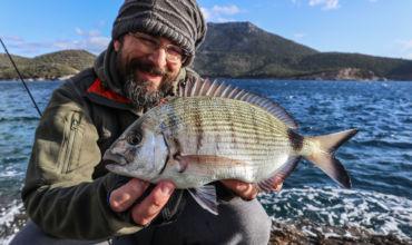 LIGHT ROCK FISHING. The White Sea Breams of the Aegean Sea.